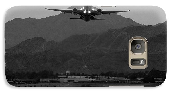 Alaska Airlines Palm Springs Takeoff Galaxy Case by John Daly