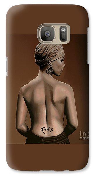 Alicia Keys  Galaxy S7 Case by Paul Meijering
