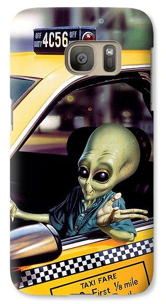 Alien Cab Galaxy S7 Case by Steve Read