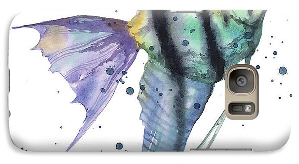 Alluring Angelfish Galaxy Case by Alison Fennell
