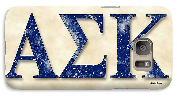 Alpha Sigma Kappa - Parchment Galaxy Case by Stephen Younts