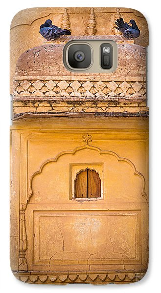 Amber Fort Birdhouse Galaxy Case by Inge Johnsson