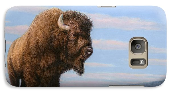 American Bison Galaxy Case by James W Johnson