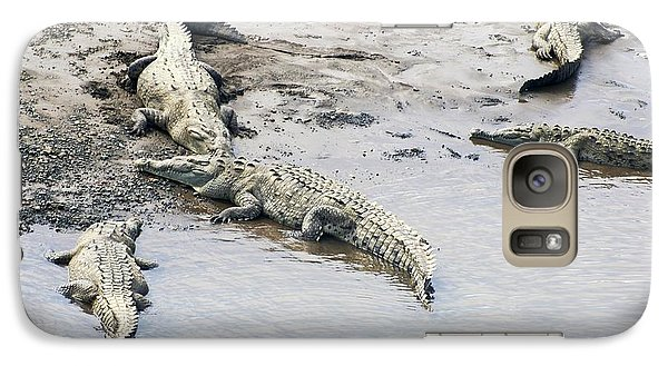 American Crocodiles (crocodylus Acutus) Galaxy S7 Case by Photostock-israel