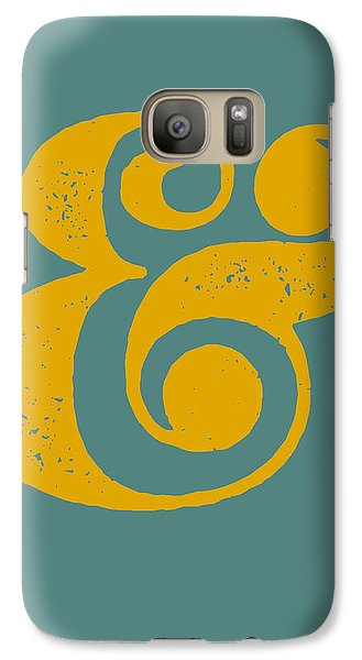 Ampersand Poster Blue And Yellow Galaxy S7 Case by Naxart Studio