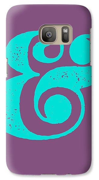 Ampersand Poster Purple And Blue Galaxy S7 Case by Naxart Studio