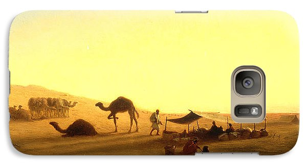 An Arab Encampment  Galaxy S7 Case by Charles Theodore Frere