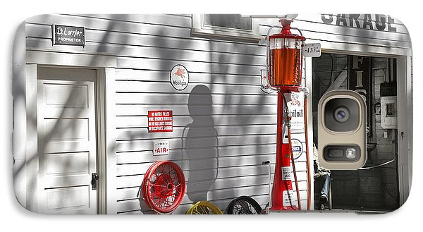 An Old Village Gas Station Galaxy S7 Case by Mal Bray