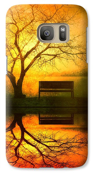 And I Will Wait For You Until The Sun Goes Down Galaxy Case by Tara Turner