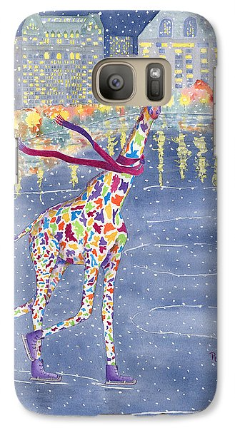 Annabelle On Ice Galaxy Case by Rhonda Leonard
