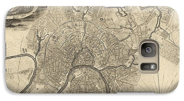 Antique Map Of Moscow Russia By Ivan Fedorovich Michurin - 1745 Galaxy Case by Blue Monocle