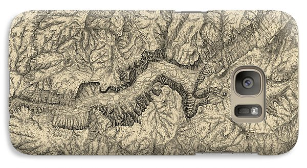 Antique Map Of Yosemite National Park By George M. Wheeler - Circa 1884 Galaxy Case by Blue Monocle