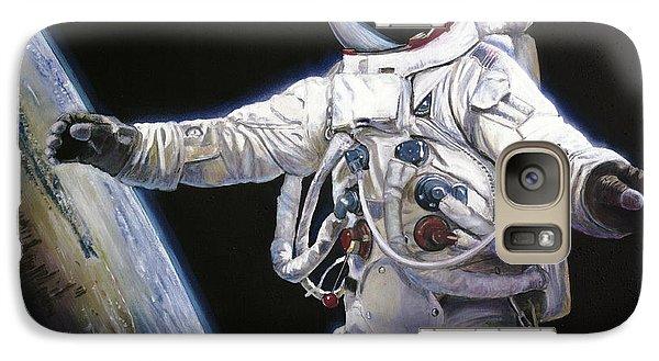 Apollo 9 - Schweickart On The Porch Galaxy Case by Simon Kregar