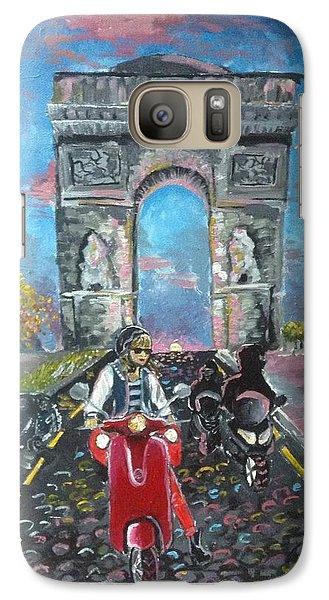 Arc De Triomphe Galaxy Case by Alana Meyers