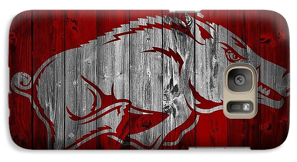 Arkansas Razorbacks Barn Door Galaxy S7 Case by Dan Sproul