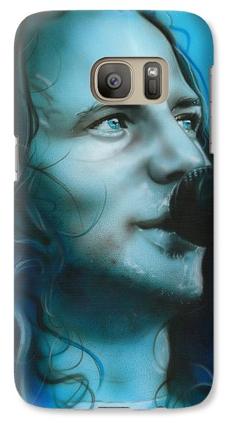 Eddie Vedder - ' Arms Raised In A V ' Galaxy Case by Christian Chapman Art
