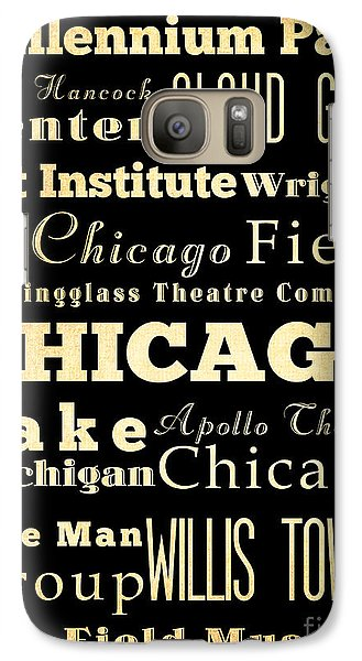 Attractions And Famous Places Of Chicago Illinois Galaxy Case by Joy House Studio