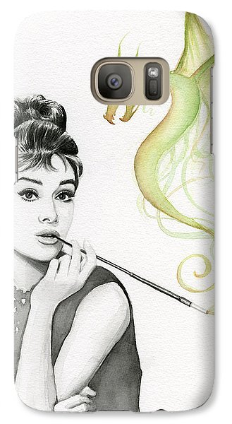 Audrey And Her Magic Dragon Galaxy Case by Olga Shvartsur