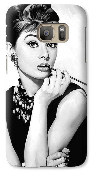 Audrey Hepburn Artwork Galaxy Case by Sheraz A