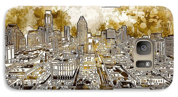 Austin Texas Abstract Panorama 6 Galaxy Case by Bekim Art