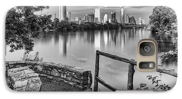 Austin Texas Skyline Lou Neff Point In Black And White Galaxy S7 Case by Silvio Ligutti
