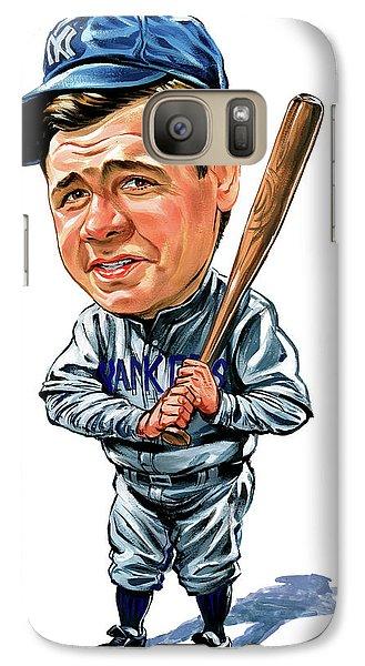 Babe Ruth Galaxy S7 Case by Art