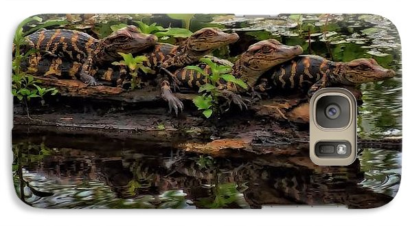 Baby Alligators Reflection Galaxy Case by Dan Sproul