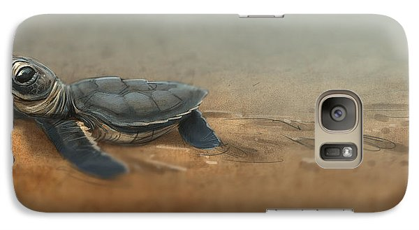 Baby Turtle Galaxy S7 Case by Aaron Blaise