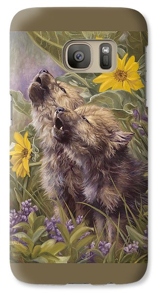 Baby Wolves Howling Galaxy S7 Case by Lucie Bilodeau