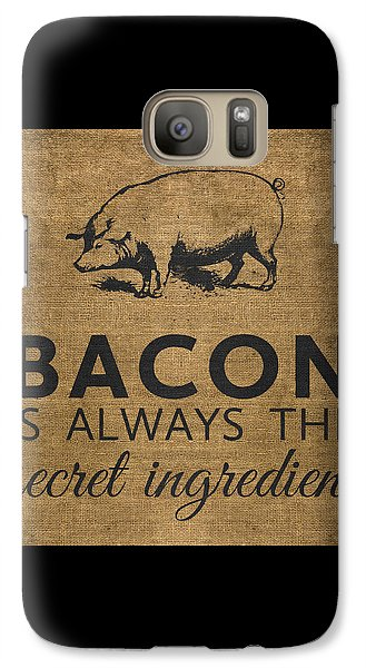 Bacon Is Always The Secret Ingredient Galaxy Case by Nancy Ingersoll