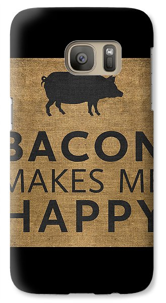 Bacon Makes Me Happy Galaxy Case by Nancy Ingersoll