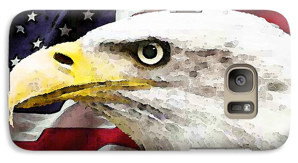 Bald Eagle Art - Old Glory - American Flag Galaxy S7 Case by Sharon Cummings