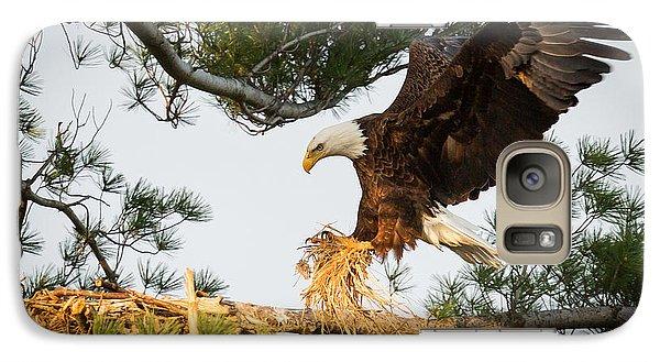 Bald Eagle Building Nest Galaxy Case by Everet Regal