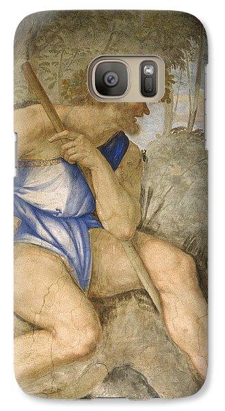 Baldassare Peruzzi 1481-1536. Italian Architect And Painter. Villa Farnesina. Polyphemus. Rome Galaxy S7 Case by Baldassarre Peruzzi