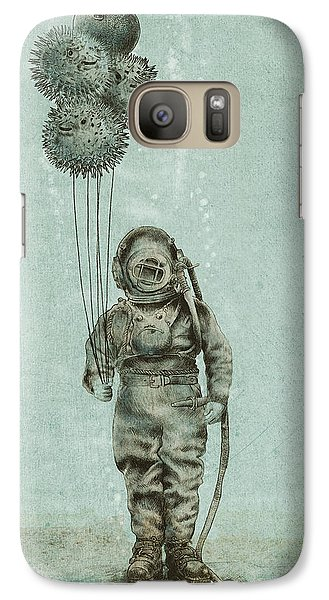 Balloon Fish Galaxy Case by Eric Fan
