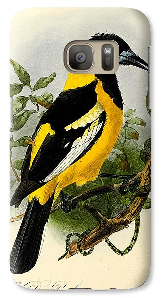 Baltimore Oriole Galaxy Case by J G Keulemans