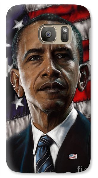Barack Obama Galaxy Case by Andre Koekemoer