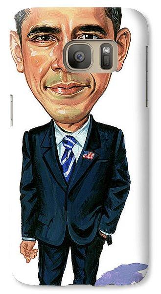 Barack Obama Galaxy S7 Case by Art