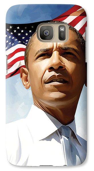 Barack Obama Artwork 1 Galaxy Case by Sheraz A