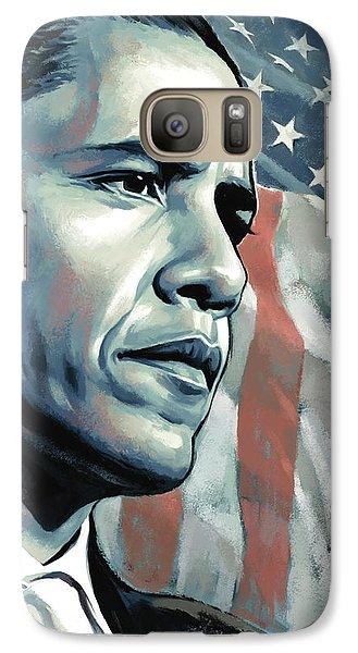 Barack Obama Artwork 2 B Galaxy Case by Sheraz A