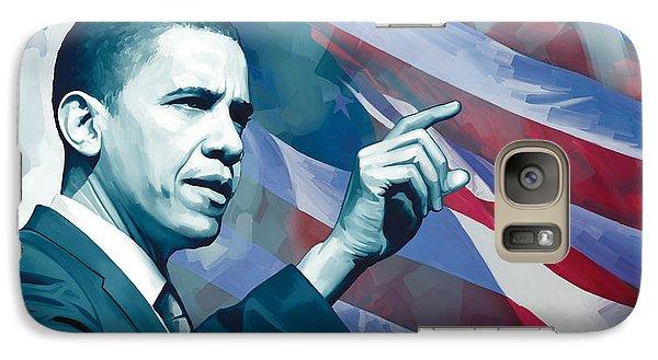 Barack Obama Artwork 2 Galaxy Case by Sheraz A