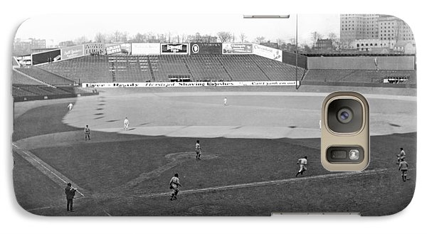 Baseball At Yankee Stadium Galaxy S7 Case by Underwood Archives