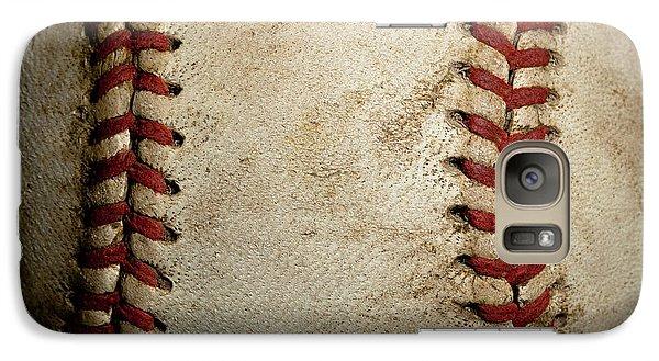 Baseball Seams Galaxy Case by David Patterson