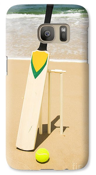 Bat Ball And Stumps Galaxy S7 Case by Jorgo Photography - Wall Art Gallery