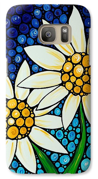 Bathing Beauties - Daisy Art By Sharon Cummings Galaxy Case by Sharon Cummings
