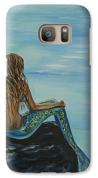 Beautiful Magic Mermaid Galaxy Case by Leslie Allen