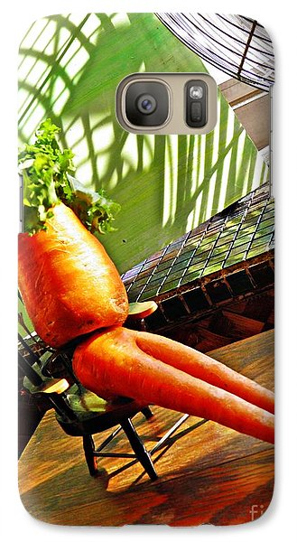Beer Belly Carrot On A Hot Day Galaxy S7 Case by Sarah Loft