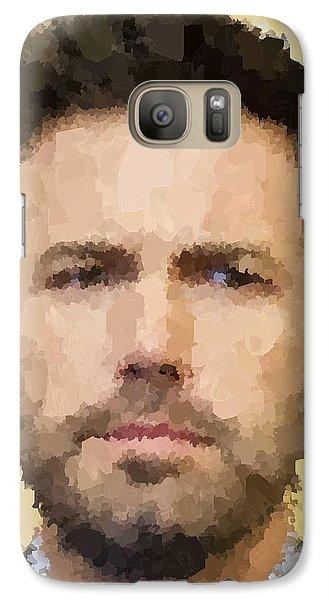 Ben Affleck Portrait Galaxy Case by Samuel Majcen