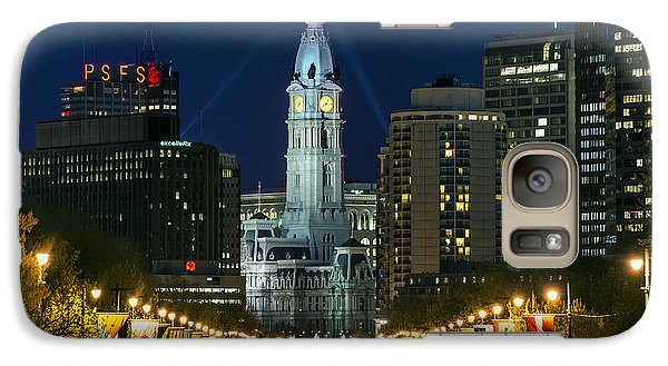 Ben Franklin Parkway And City Hall Galaxy Case by John Greim