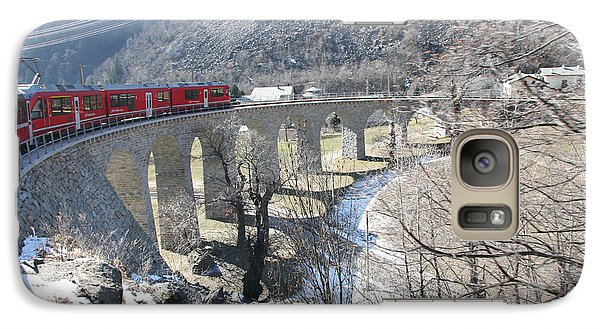 Galaxy Case featuring the photograph Bernina Express In Winter by Travel Pics